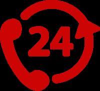 icon 24 hour telephone